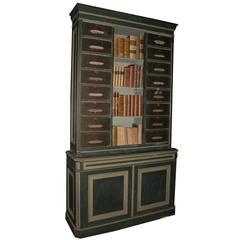 Antique Lacquered Bookcase