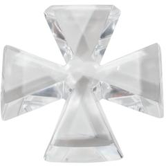 Mid-Century Modernist Baccarat Cross Shaped Paperweight # 2