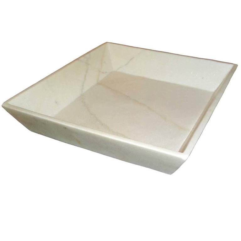 White Marble Towel Tray