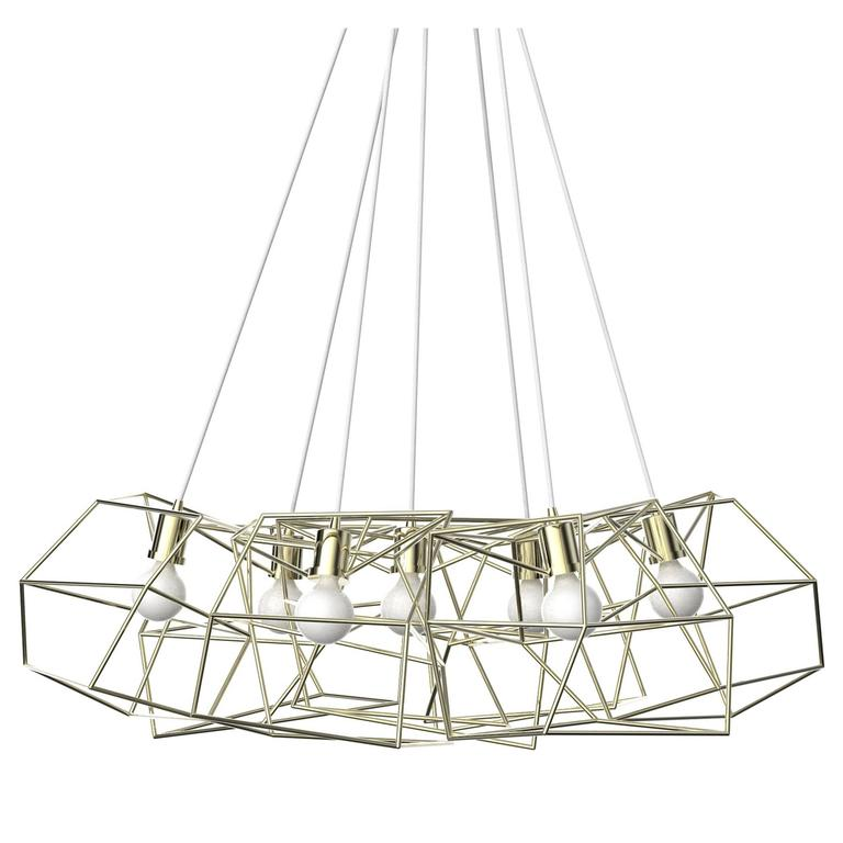 Seven-Piece Spica Cluster, Metallic For Sale
