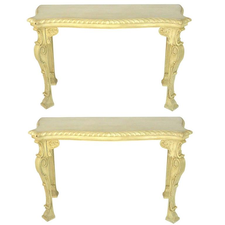 Pair of English George II William Kent Style Console Tables