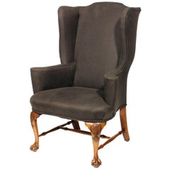 19th Century Georgian Wing Chair