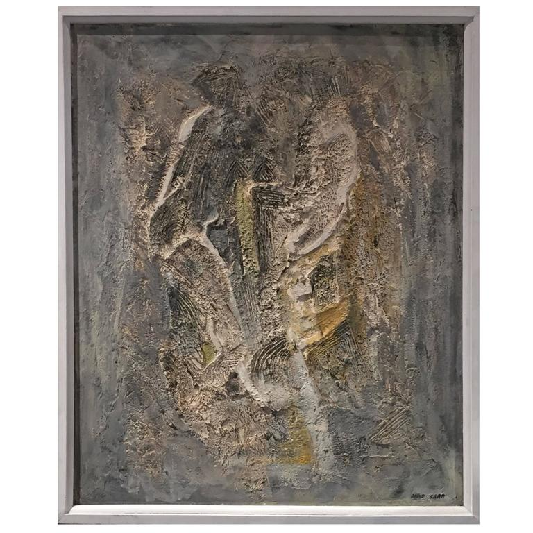 Framed Abstract Mixed Media Artwork by David Carr, Signed ...