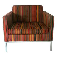 Florence Knoll for Knoll Striped Alexander Girard Fabric Lounge