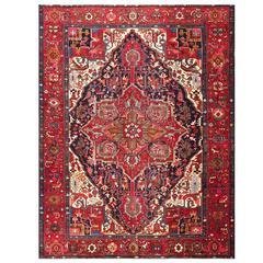 Beautiful Vintage Persian Heriz Rug