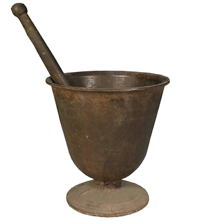 Korean Footed Mortar For Sale