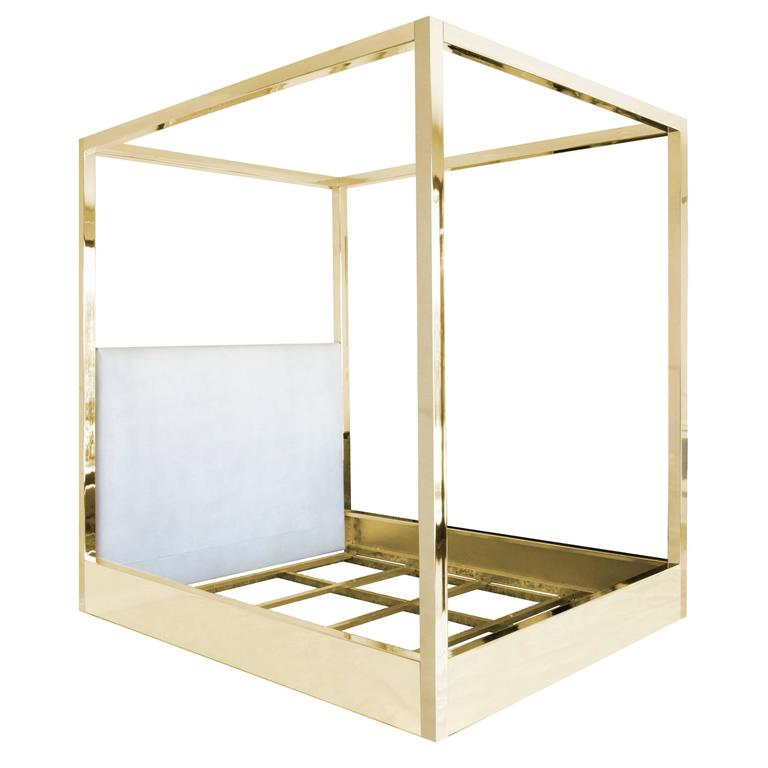 Custom brass bed for sale at 1stdibs - Unique beds for sale ...