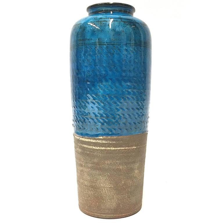 Large Blue Niels Kähler Vase