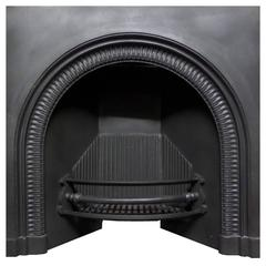 Antique Georgian Regency Cast Iron Insert Fireplace