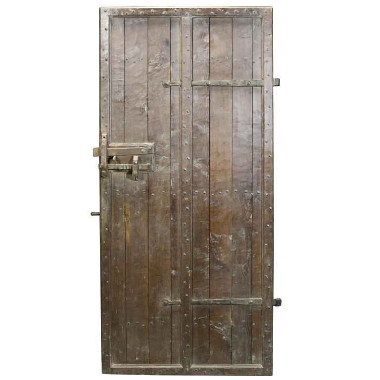 Exterior: High Quality Oak Feature Door, Circa 1900 At 1stdibs