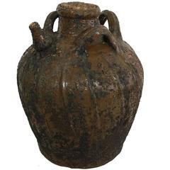 18th Century Walnut Oil Jug from France