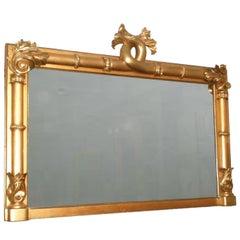19th Century William IV English Large Rectangular Mirror