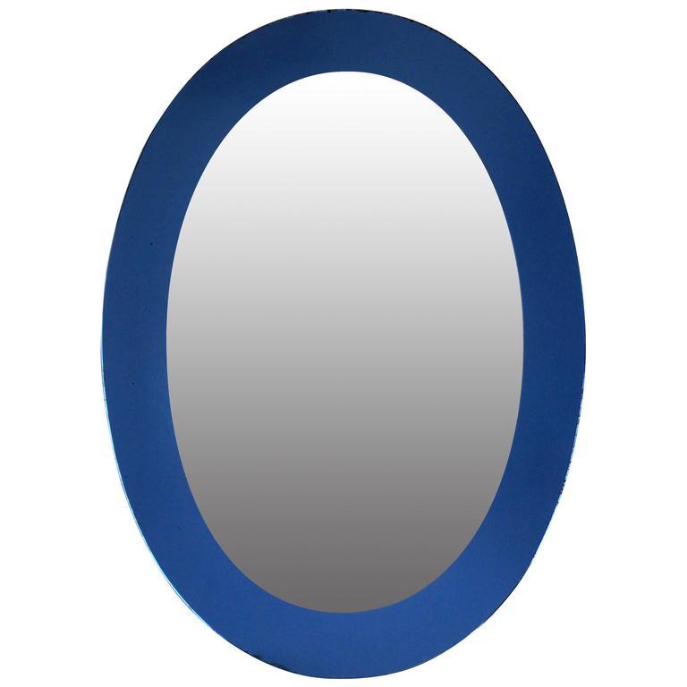 Italian Mirror with Blue Border