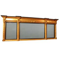 Early 19th Century Gilt and Ebonised Mirror