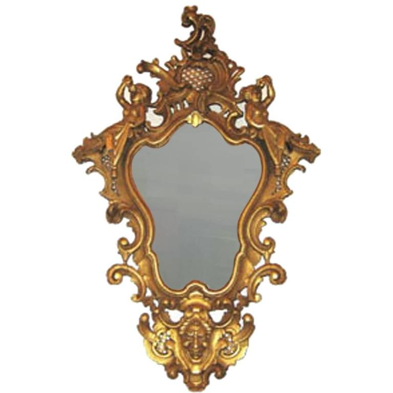 19th Century Regency Carved Gilt Wall Mirror