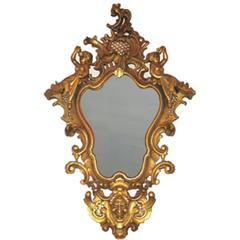 19th Century Carved Gilt Wall Mirror