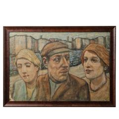 Modernist Trio Portrait I, circa 1930