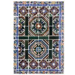 16th Century Hispano-Moresque Tile Panel