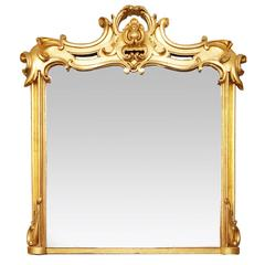 19th Century Carved Giltwood Overmantel Mirror