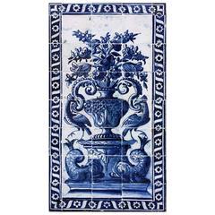 """17th Century Portuguese Panel """"Albarrada"""""""