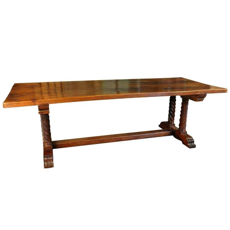 Spanish Late 19th Century Monastery Table or Trestle Table