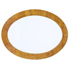 Late 19th Century Birch Oval Mirror