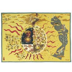 """Voici La Maison"", Jean Lurcat, French Tapestry"