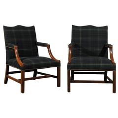 Pair of 18th Century English Chippendale Lolling Chairs