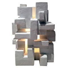 """Gotham"" Illuminated Table Sculpture by Dan Schneiger"