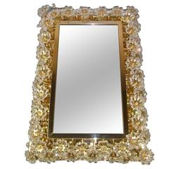 Square Illuminated Palwa Crystal Glass Mirror