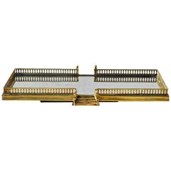 Brass Serving Tray/Plateau with Stairs
