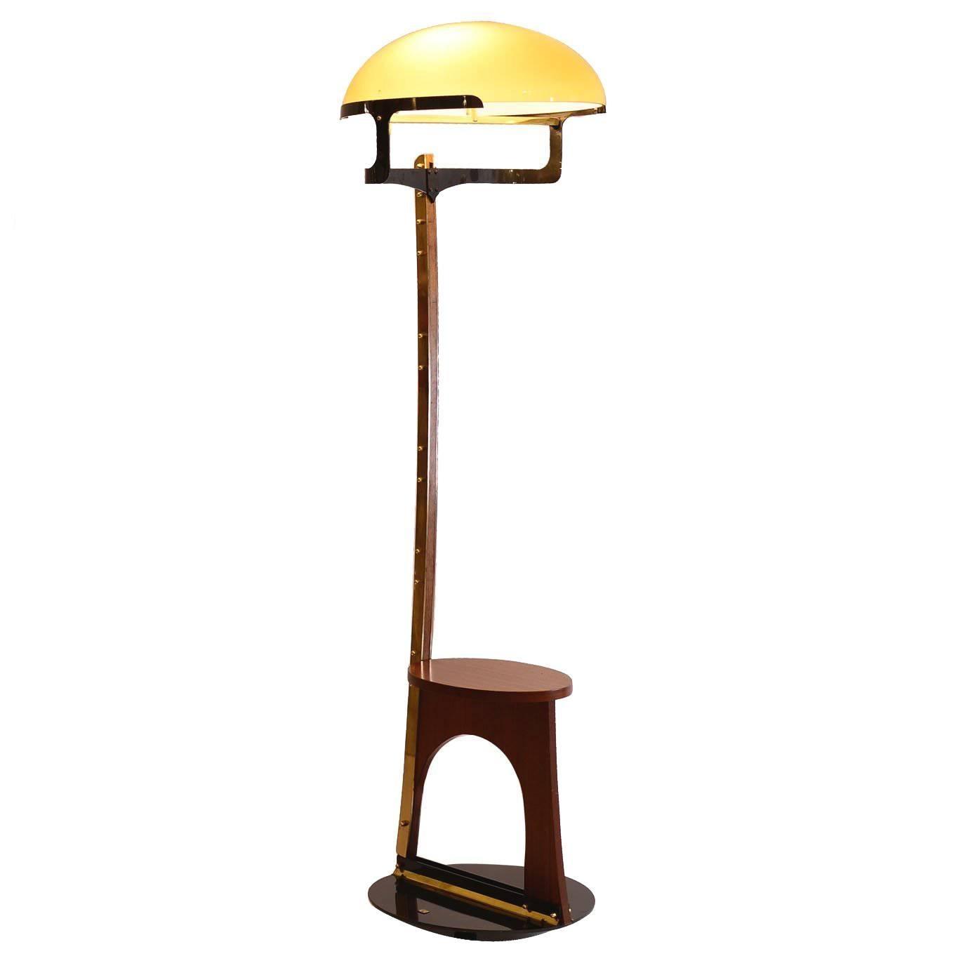 Original Luigi Blau Vienna 1989 Modern Floor Lamp Woka Art Collection