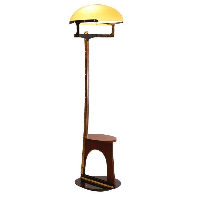 Original Luigi Blau Vienna 1989 Modern Floor Lamp Woka Art Collection For Sale