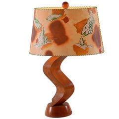 Original Christian Ludwig Attersee 1992 Table Lamp from Woka Art Collection