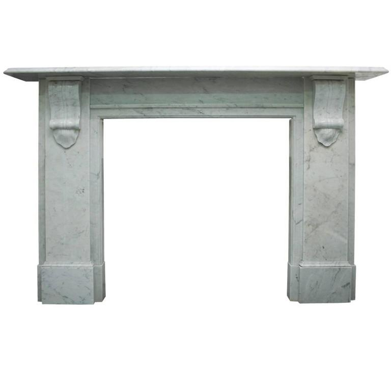 Reclaimed 19th Century Carrara Marble Fireplace Surround