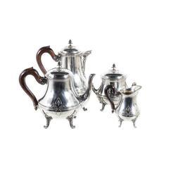 Four-Piece Sterling Silver Tea Set by Puiforcat, France