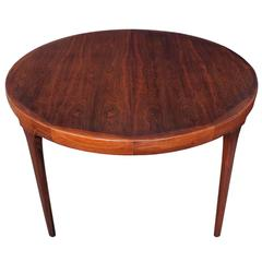 Round Rosewood Dining Table by Ib Kofod-Larsen