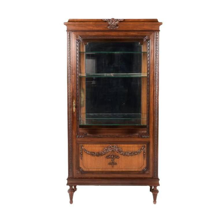 Early 20th Century French Mahogany Display Case, circa 1900