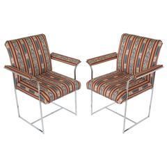 Pair of Chrome Armchairs by Milo Baughman