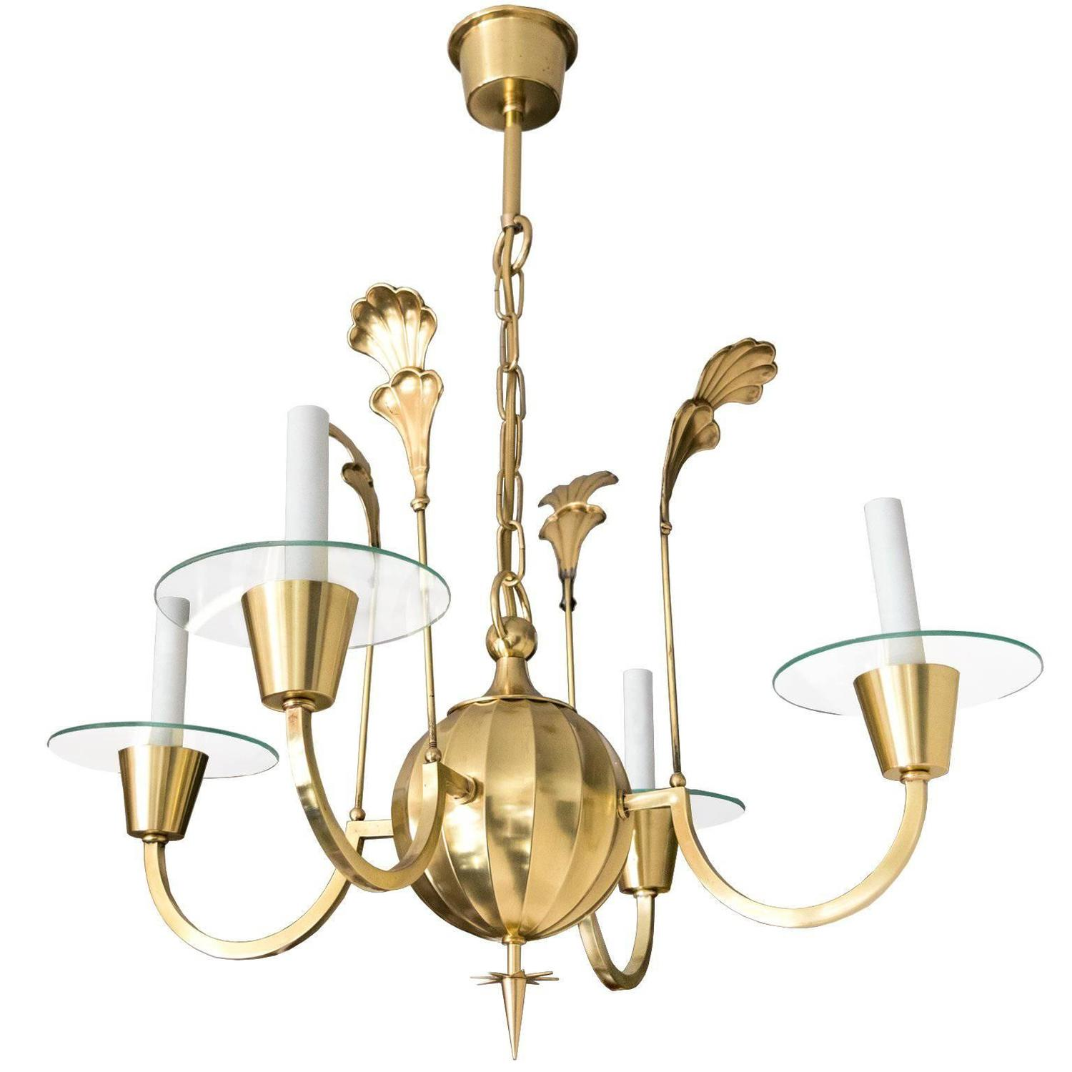 Paul Loebach for Roll and Hill Four Ring Halo Chandelier For Sale