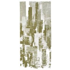 "Textile Wall Panel by Otto Nielsen for Grautex Denmark. ""Sky View"" Handprinted"