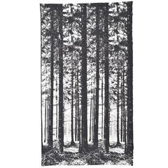 "Textile Wall Panel by Ronald Hansen for Grautex ""Thed Pinewood"" Handprinted"