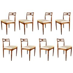 Mid-Century Modern Rosewood Dining Chairs by Johannes Andersen, Set of Eight