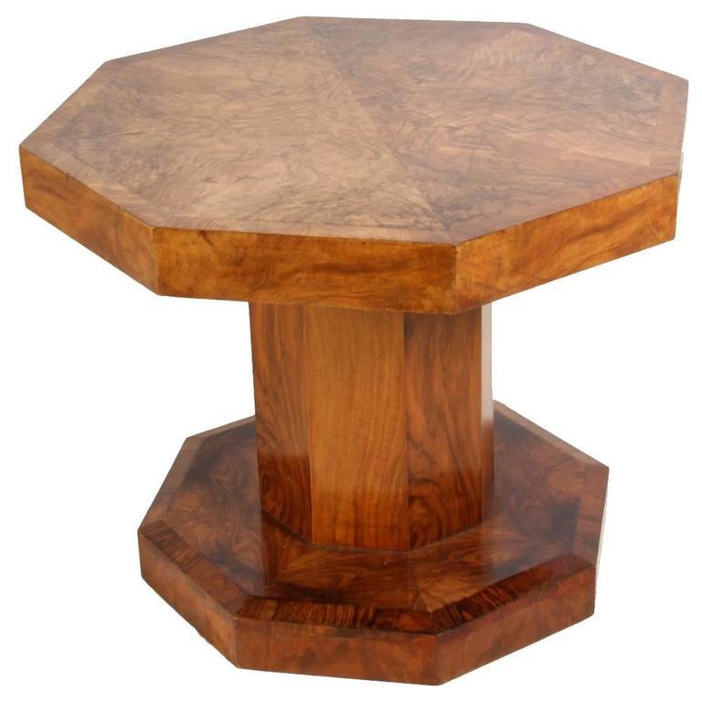 Art Deco Walnut Coffee Table At 1stdibs