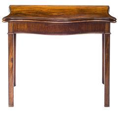 Fine English 18th Century George III Neoclassical Mahogany Serpentine Tea Table