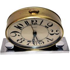 Original 1930s Art Deco Miniature Clock by Dep