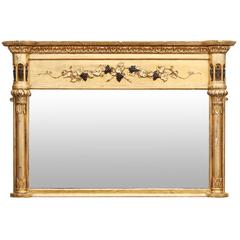 Early 19th Century Giltwood Overmantle Mirror