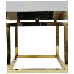Mies Side Table, Small in Brass by Michael Dawkins