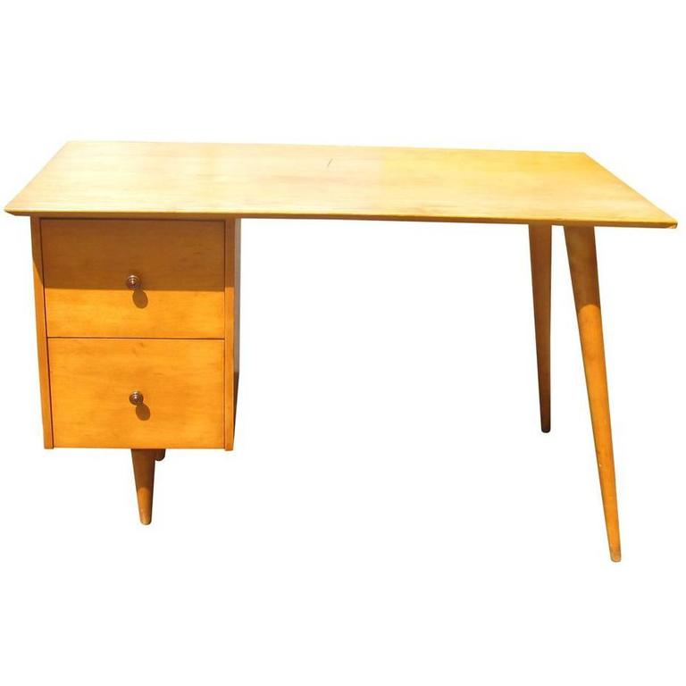 Vintage Mid Century Paul Mccobb Planner Group Desk For