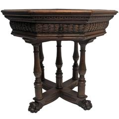 19th Century Italian Walnut Centre Table